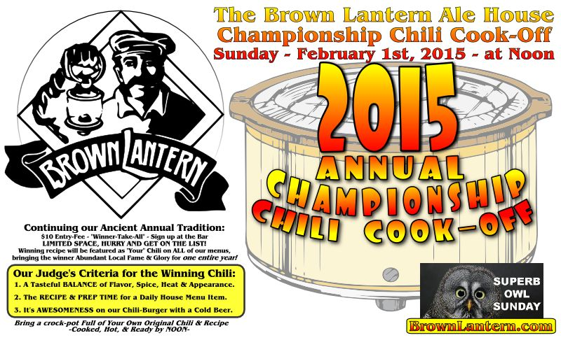 Chili Cook-off Feb.1 at Noon