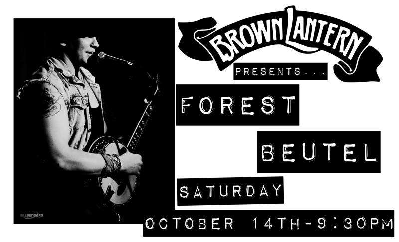 Forest Beutel, Saturday, July 30th, 9:30pm