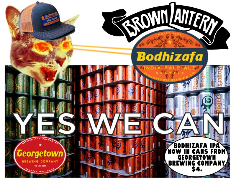 Bodhizafa IPA from Georgetown Brewing Company, now available in cans!
