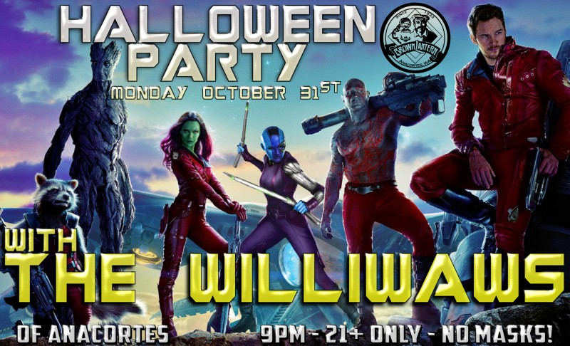 Halloween Party with the Williwas, Monday, October 31st, 9pm