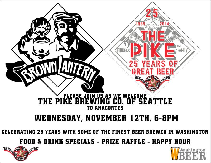 Pike Brewing Co. Promo, Wed., Nov. 12th, 6 - 8pm