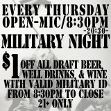 Thursday Open-Mica at 8:30pm