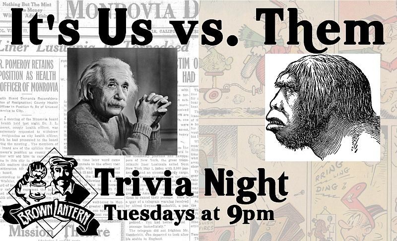 Trivia Night every Tuesday at 9pm