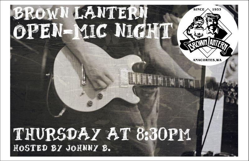 Open-Mic with Host Johnny B. every Thursday at 8:30pm