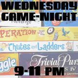 Wednesday Game Night at 9pm