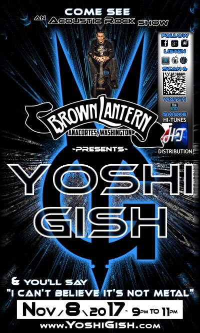 Yoshi Gish, Wednesday, June 14th, 2017 @ 9pm