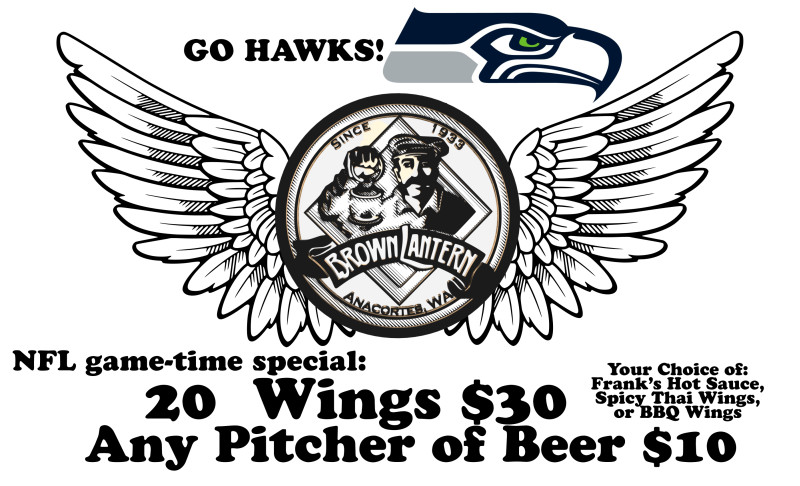 NFL game-time special: 20 wings $30, any pitcher of beer $10